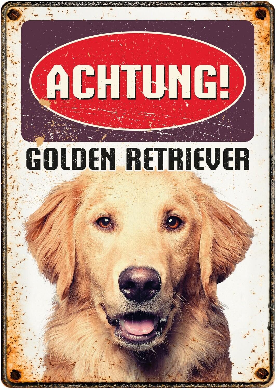 Plenty Gifts Hunde- Warnschild Golden Retriever 21 x 14,8 cm