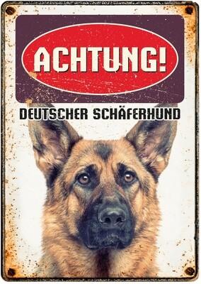 Plenty Gifts Hunde- Warnschild Deutscher Schäferhund 21 x 14,8 cm