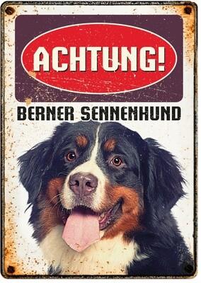 Plenty Gifts Hunde- Warnschild Berner Sennenhund 21 x 14,8 cm
