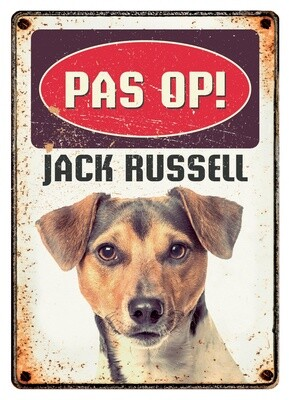Plenty Gifts Hunde- Warnschild Jack Russel 21 x 14,8 cm