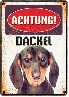 Plenty Gifts Hunde- Warnschild Dackel 21 x 14,8 cm