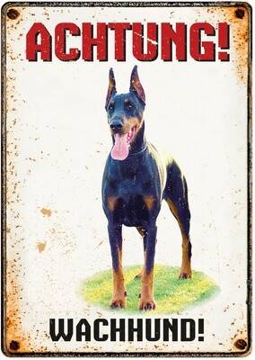 Plenty Gifts Hunde- Warnschild Wachhund 21 x 14,8 cm