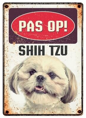Plenty Gifts Hunde- Warnschild Shih Tzu 21 x 14,8 cm