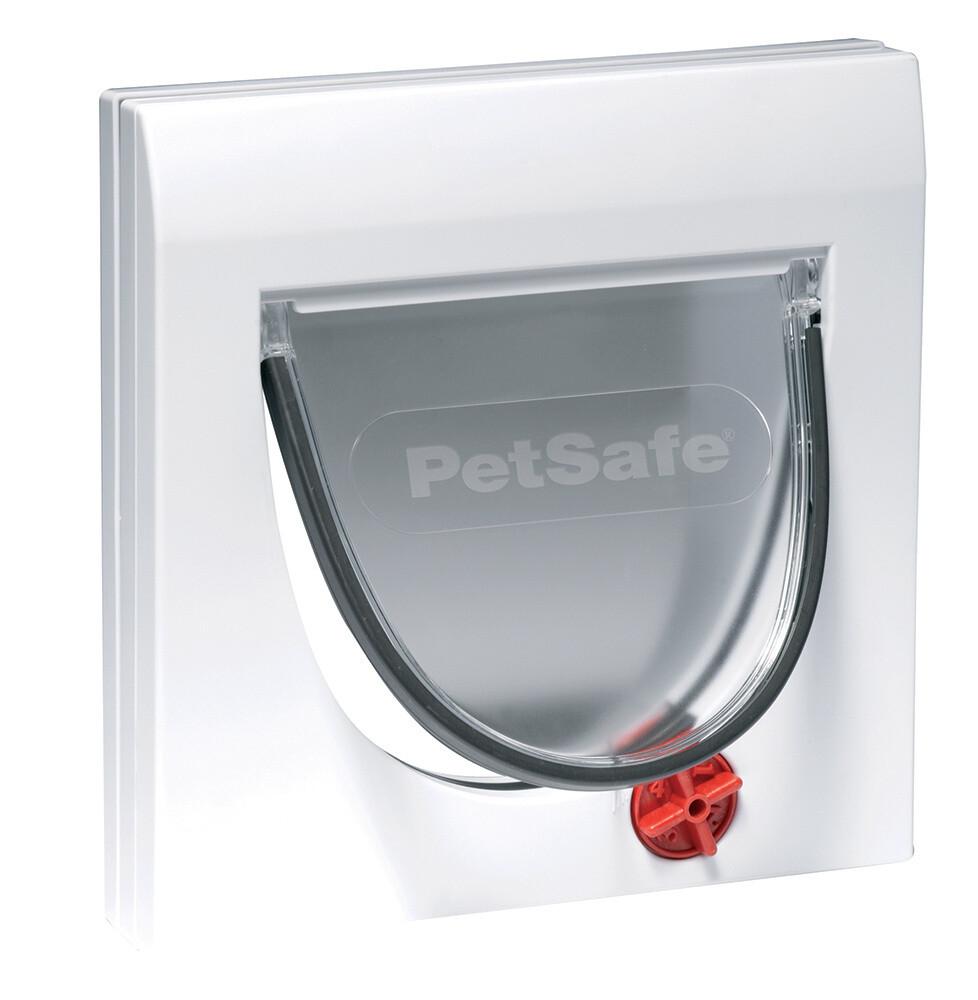PetSafe Hundeklappe Katzenklappe 4-Wege 22,3 x 16 cm weiss