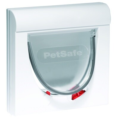 PetSafe Hundeklappe Katzenklappe magnetisch 25,2 x 24,1 cm weiß 2-teilig