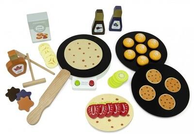 Mamamemo Spielgeräte Pfannkuchen- Maker 18 cm 41-teilig