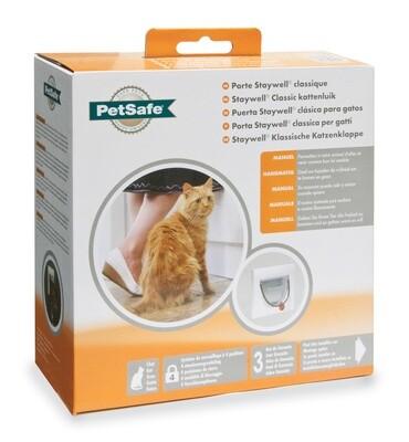 PetSafe Hundeklappe Katzenklappe 4-Wege 22,3 x 16 cm weiss 2-teilig