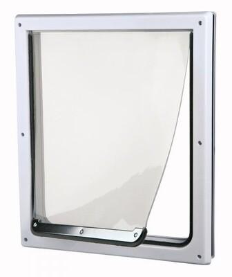 Trixie Hundeklappe Katzenklappe 39 x 45 cm silber/transparent