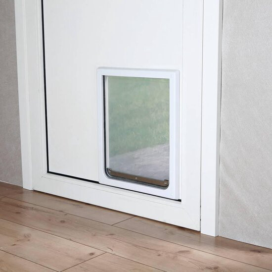 Trixie Hundeklappe Katzenklappe 30 x 36 cm silber/transparent