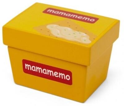 Mamamemo Weich- Käse aus Holz 10 x 13 cm, gelb