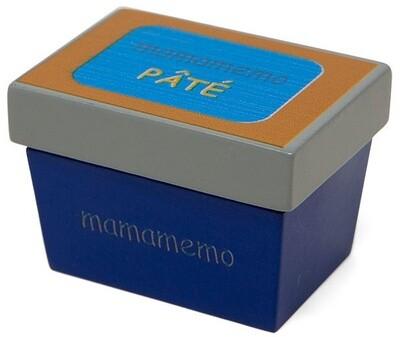 Mamamemo Pâté (Teig) aus Holz, 10 x 8 x 13 cm, blau