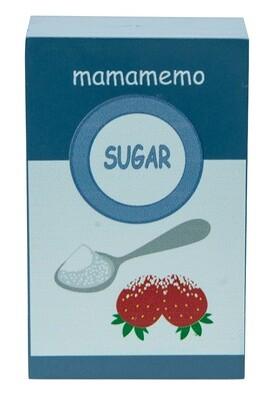 Mamamemo Zucker in der Packung, aus Holz, 10 cm, hellblau/weiß