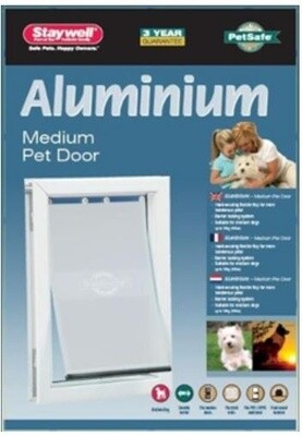 PetSafe Hundeklappe Katzenklappe  620 Staywell 40 x 27,76 cm Aluminium weiß