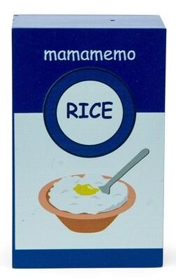 Mamamemo Milchreis-Packung aus Holz, 10 cm, blau/weiss