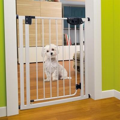 Ferplast Hunde- und Katzenzaun / Hundegitter 70 x 79 cm Stahl weiss