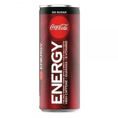 Grosspackung Coca Cola No Sugar Energy Drink (12 x 0,25 Liter Dosen BE) = 3 Liter