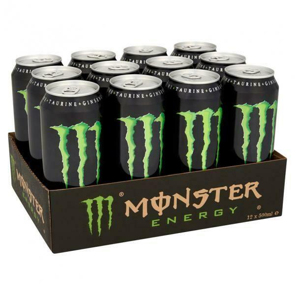 Grosspackung Monster Energy (12 x 0,5 Liter Dosen) = 6 Liter