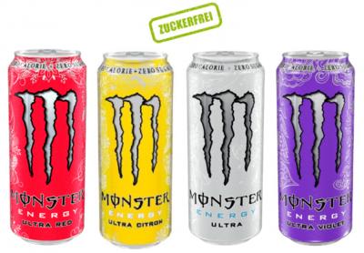 Grosspackung Monster Energy AKTION XXL PAKET Ultra (48 x 0,5 Liter Dosen) = 24 Liter