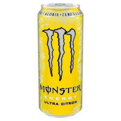 Grosspackung  Monster Energy Ultra Citron (12 x 0,5 Liter Dosen) = 6 Liter