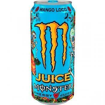 Grosspackung Monster Energy Mango Loco Juice (12 x 0,5 Liter Dosen) = 6 Liter