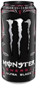 USA Import Grosspackung  Monster Energy Ultra Black (12 x 0,473 Liter Dosen) = 5.676 Liter
