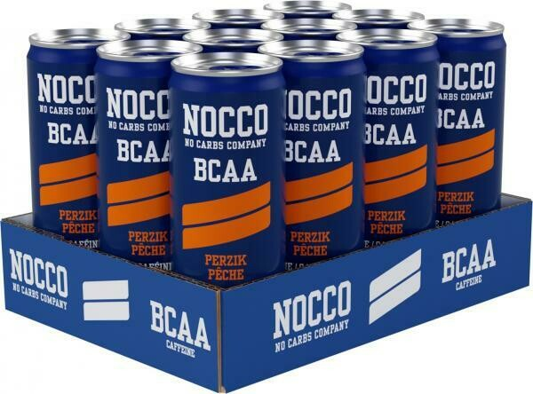 Grosspackung Nocco Peach BCAA Energy Drink (12 x 0,25 Liter Dosen SE) = 3 Liter
