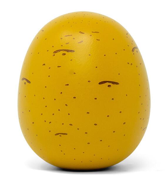 Mamamemo Kartoffel aus Holz, 5 cm, gelb