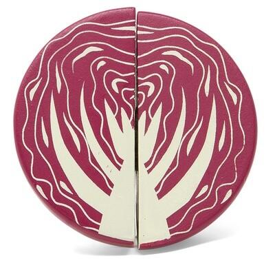 Mamamemo Rotkohl aus Holz, 4,5 x 3,5 cm, violett 2-teilig
