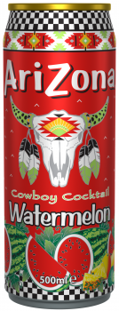Grosspackung Arizona Cowboy Cocktail Watermelon (12 x 0,5 Liter Dosen NL) = 6 Liter