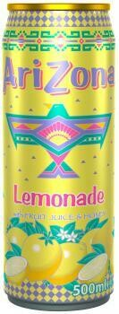 Grosspackung Arizona Lemonade with Fruit Juice & Honey (12 x 0,5 Liter Dosen NL) = 6 Liter