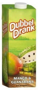 Niederlande-Import Grosspackung Dubbeldrank Mango-Guanabana (8 x 1 Liter Tetra-Pack = 8 Liter