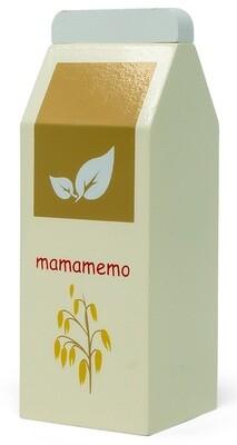 Mamamemo Hafergetränk-Packung aus Holz, 5 x 12 x 5 cm elfenbeinweiß/beige