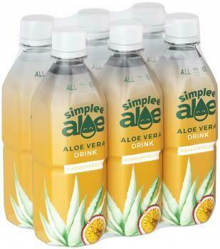 Grosspackung Simplee Aloe Vera Drink Passionfruit (6 x 0,5 Liter PET-Flaschen GB) = 3 Liter