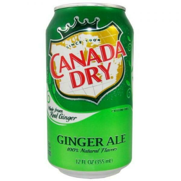 USA Import Grosspackung Canada Dry USA Ginger Ale (12 x 0,355 Liter Dosen) = 4,26 Liter