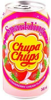 Grosspackung  Chupa Chups Strawberry & Cream Flavour (24 x 0,345 Liter Dosen) = 8.25 Liter