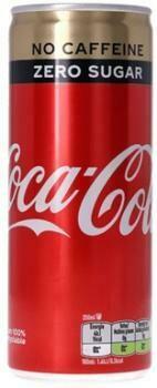 Grosspackung  Coca Cola No Caffeine Zero Sugar (24 x 0,25 Liter Dosen NL) = 6 Liter