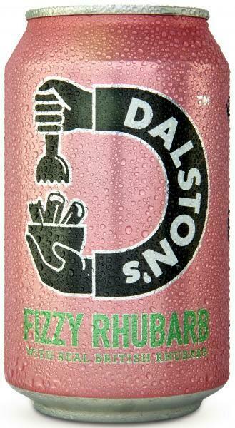 Grosspackung  Dalston's Fizzy Rhubarb (12 x 0,33 Liter Dosen GB) = 3,96 Liter