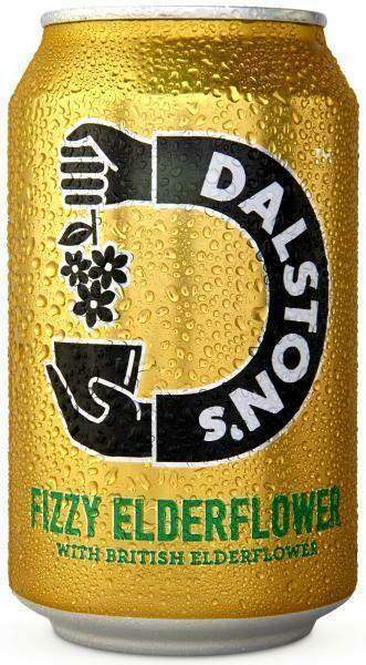 Grosspackung  Dalston's Fizzy Elderflower (12 x 0,33 Liter Dosen GB) = 3,96 Liter