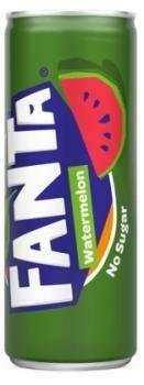 Grosspackung  Fanta No Sugar Watermelon (12 x 0,25 Liter Dosen BE) = 3 Liter
