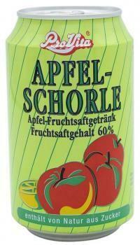 Grosspackung Pro Vita Apfelschorle (24 x 0,33 Liter Dosen DE) = 7,92 Liter