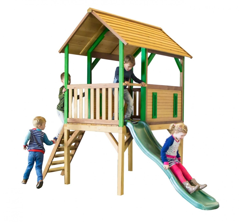 AXI Bogo Spielhaus aus Holz, 318 x 172 x 272 cm, natur