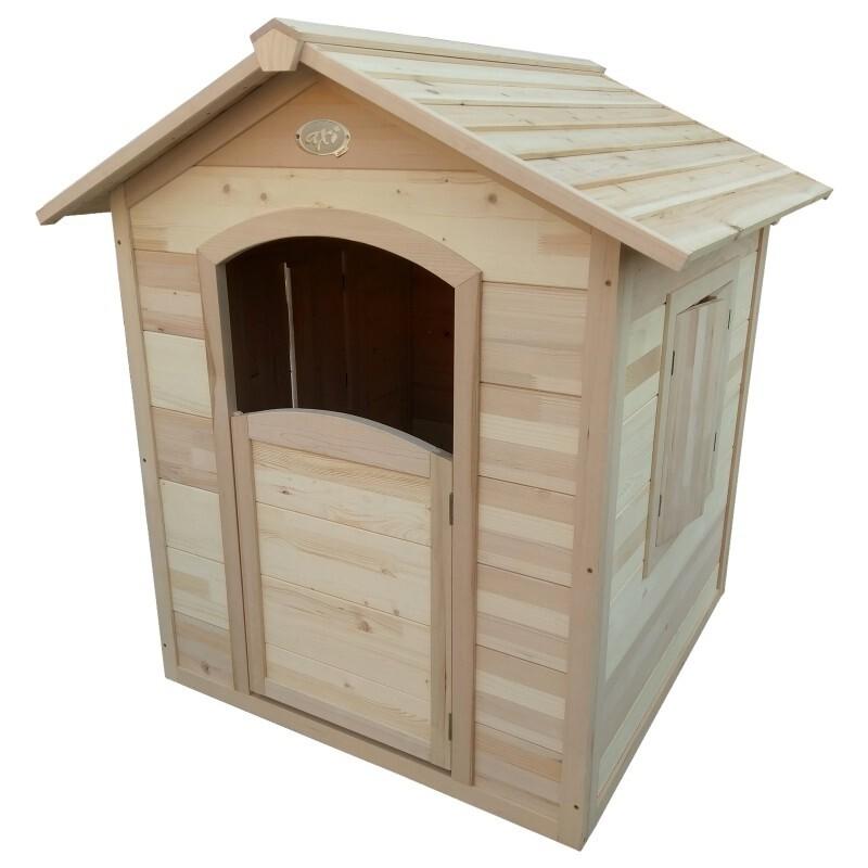 AXI Britt Spielhaus aus Holz, 120 x 110.5 cm, unbehandelt