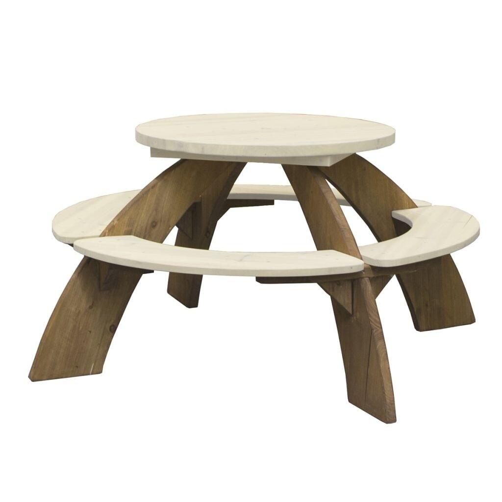 AXI Orion Picknicktisch aus Holz mit Sonnenschirm 141 cm
