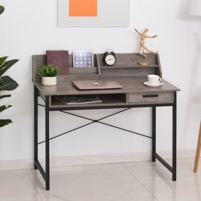 HOMCOM® Schreibtisch mit Regal Schublade Computertisch Bürotisch industrieller Stil MDF