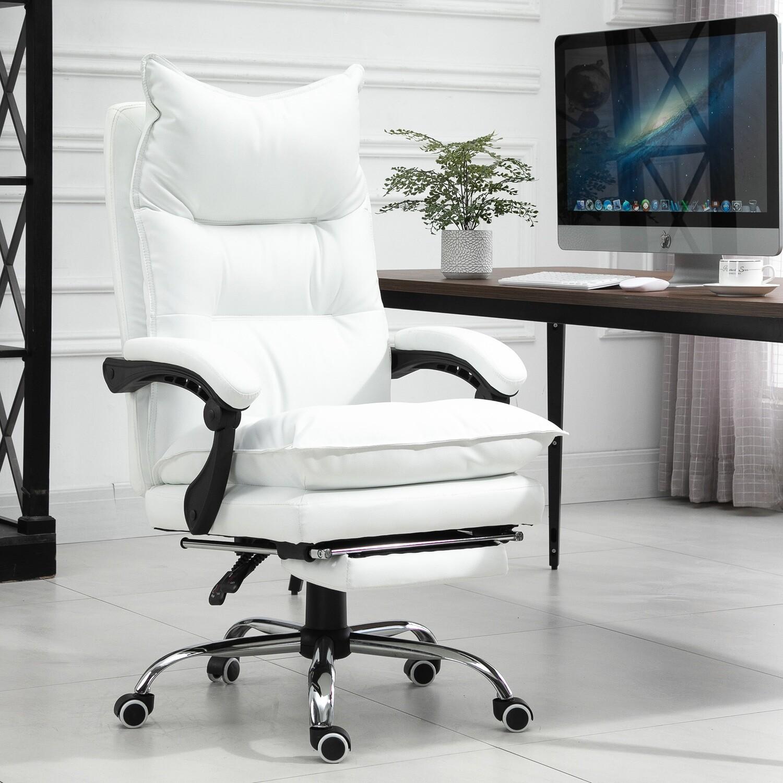 Vinsetto® Bürostuhl Höhenverstellbarer Schreibtischstuhl Drehstuhl 90°-155° Rückenlehne PU