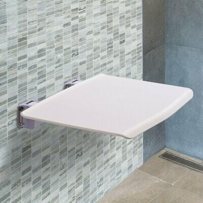 kleankin® Duschsitz Badehocker Duschklappsitz Duschhocker Wandhocker Weiss