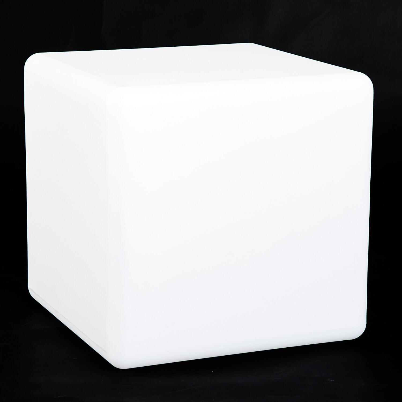 HOMCOM® LED-Würfel mit Fernbedienung 16 Leuchtvariationen Engergiesparend PE Weiss