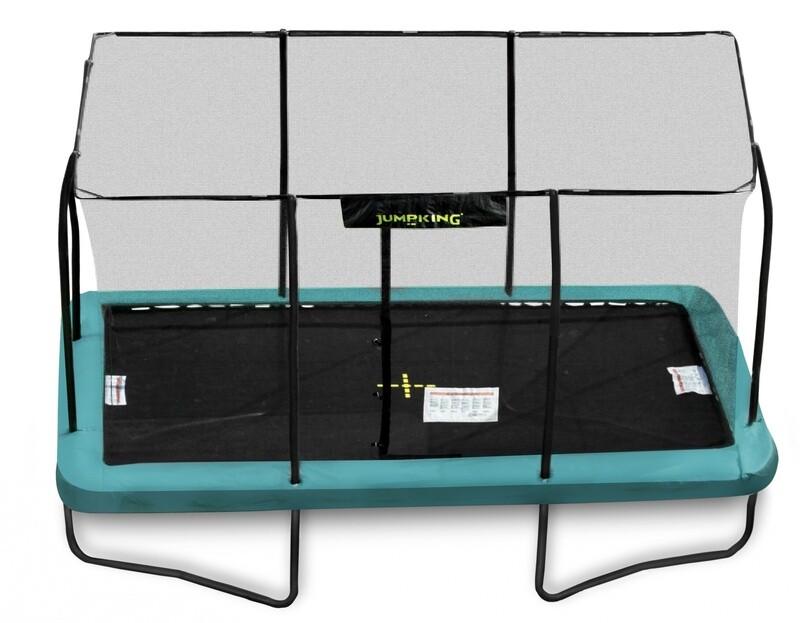 Jumpking Trampolin mit Netz und Leiter rechteckig 518 x 366 cm grün (2016)