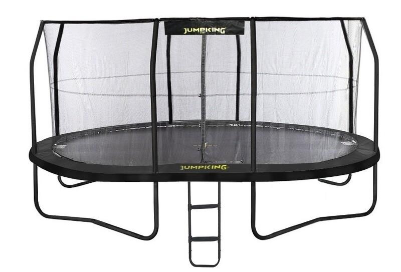 Jumpking Trampolin mit Netz und Leiter Jump Pod Oval 518 x 427 cm schwarz (2016)