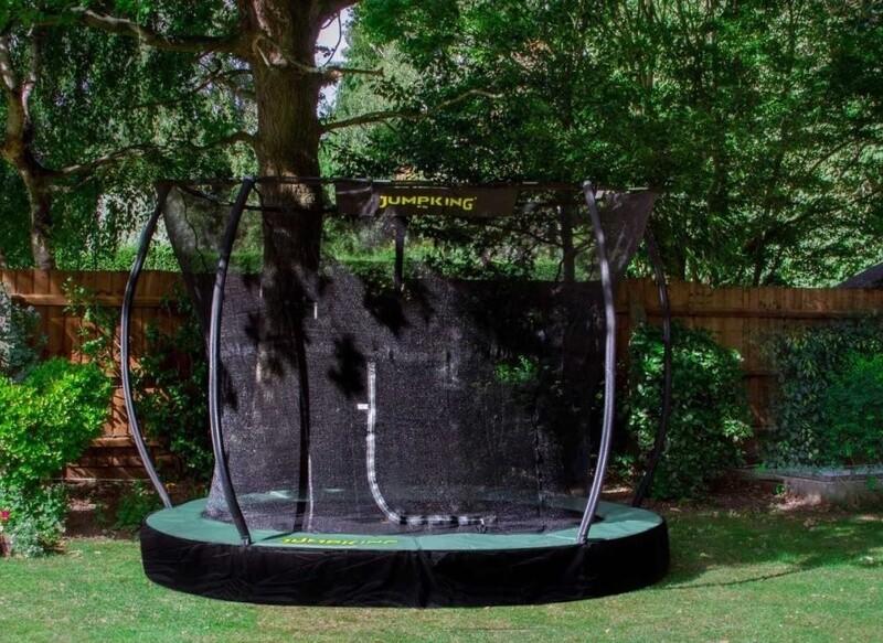 Jumpking Trampolin In Ground Deluxe, 3.66m, , schwarz/grün